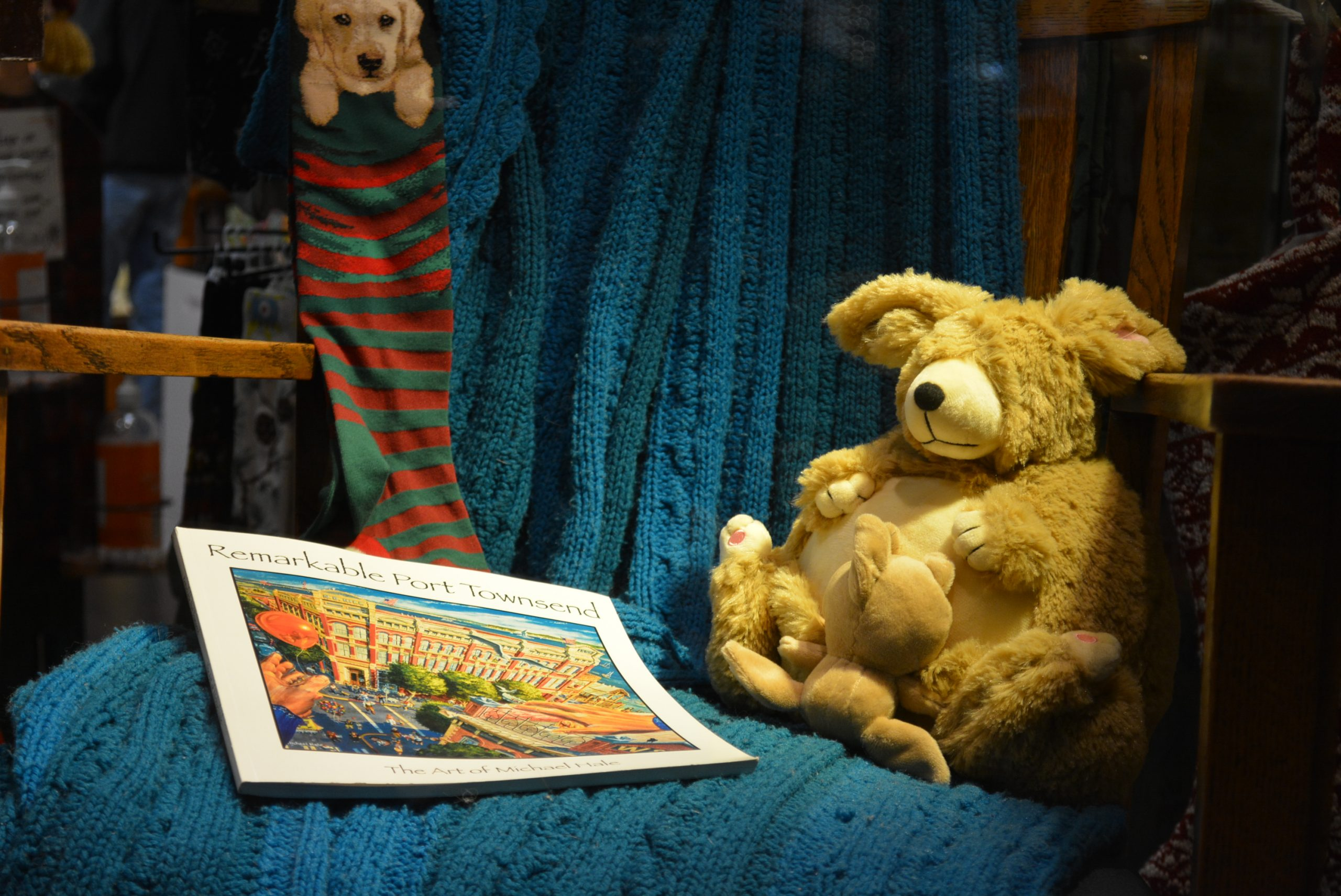 Remarkable Port Townsend book and Teddy Bear