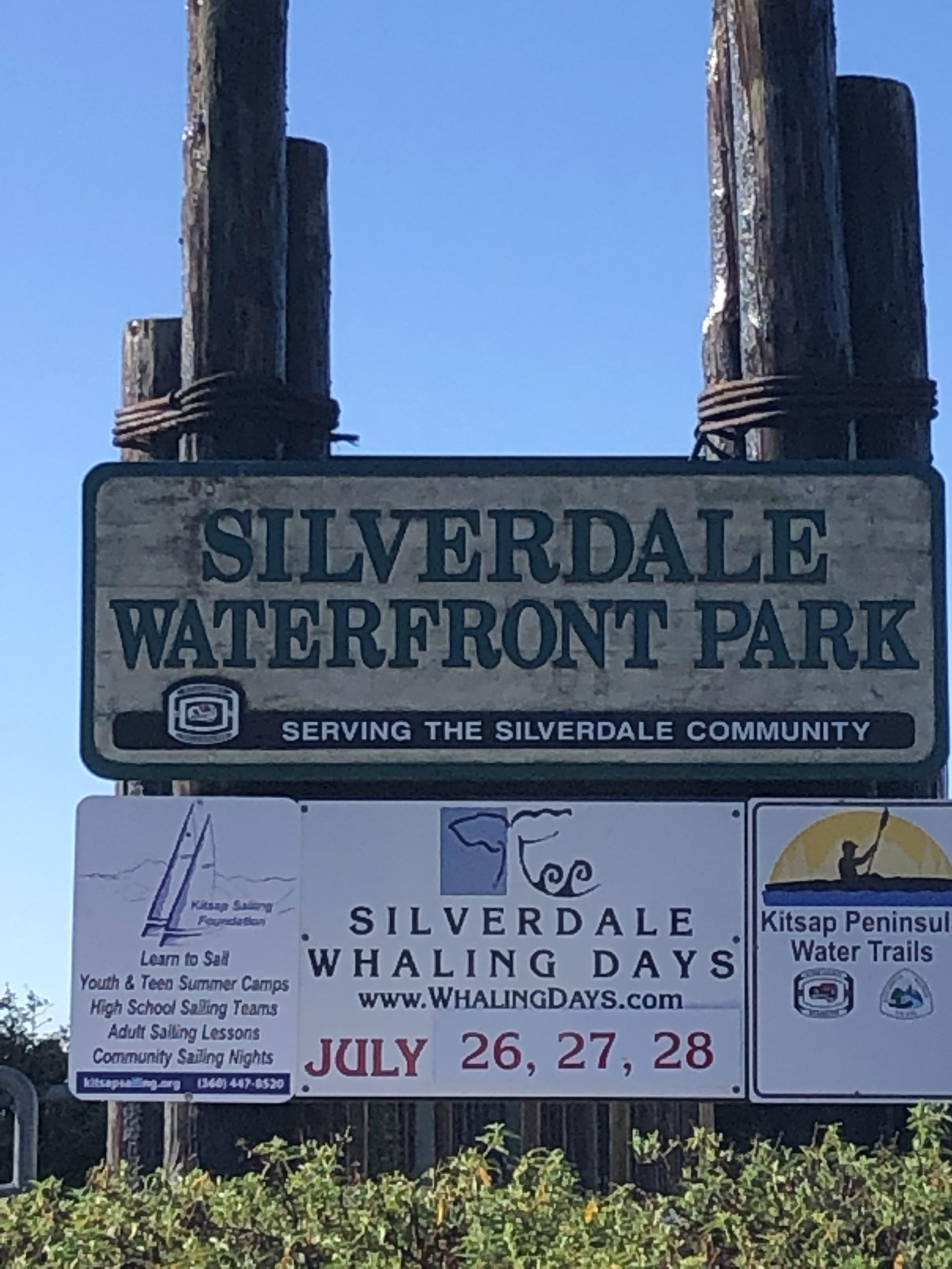 Port of Silverdale sign