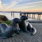 Otters Statue Port Townsend by Julie Wurden Jablonski